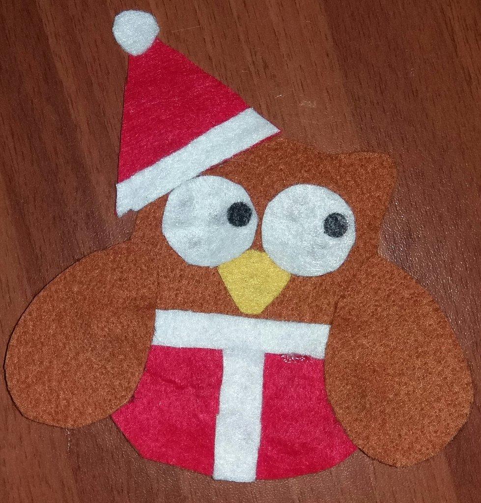 Gufetto natalizio decorativo