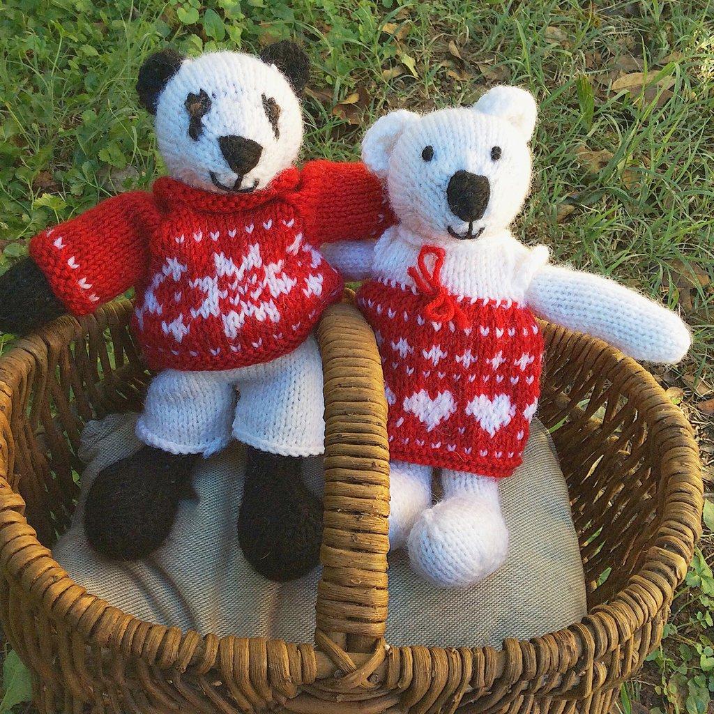 Orsetto in pura lana realizzato a maglia