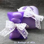 Bomboniera Scatolina Confetti lilla viola, matrimonio, nascita, cresima, comunione, battesimo