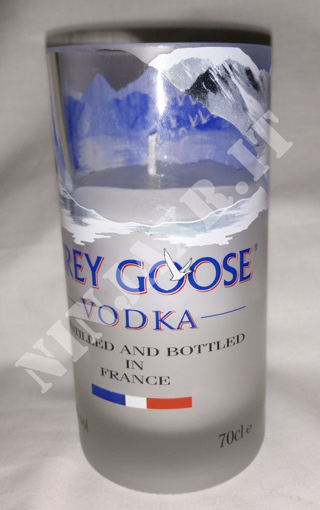 Candela Bicchiere Tumbler Highball Bottiglia Vodka Grey Goose Portacandela Vetro Bicchieri riciclo creativo