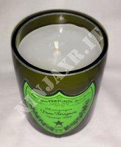 Candela Bottiglia Champagne Dom Perignon Luminous 2003 arredo design riciclo creativo riuso handmade