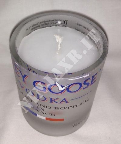 Candela Bicchiere Bottiglia Vodka Grey Goose Portacandela Vetro Bicchieri