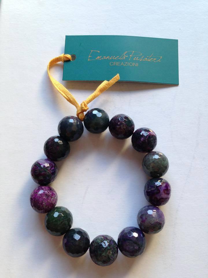 Bracciali perle sfaccettate