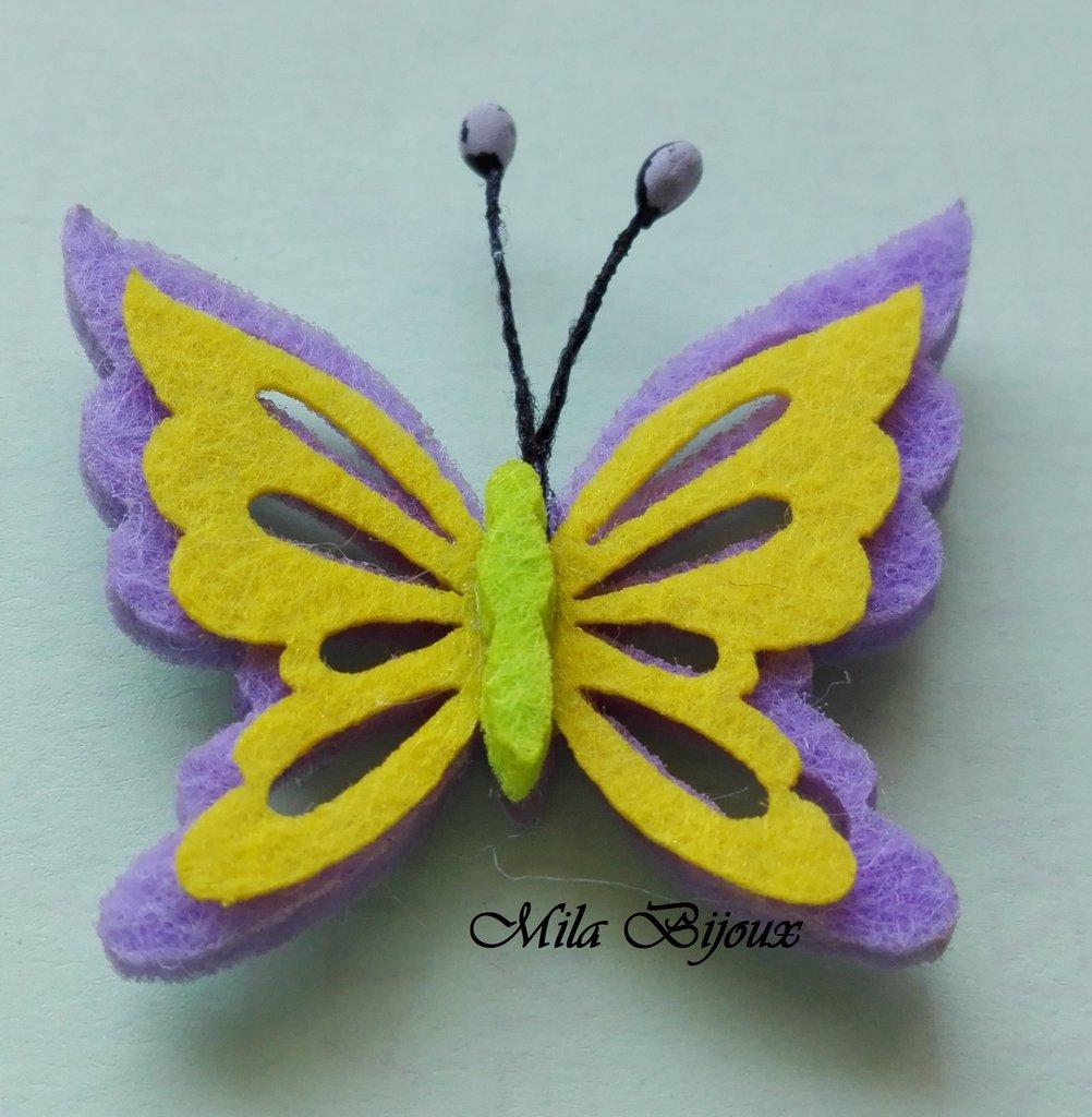 farfalla fustellata in feltro