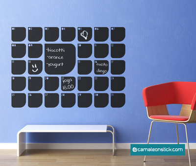 Lavagna adesiva planner mese - adesivo murale ufficio - calendario - lavagna da parete promemoria