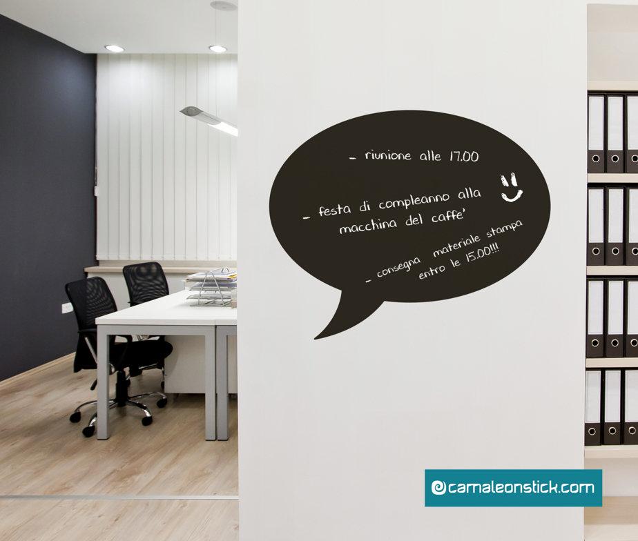 Lavagna adesiva fumetto - adesivo murale ufficio - calendario - lavagna da parete promemoria