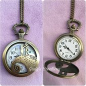 Collana orologio Jack Skeletron Sally NIGHTMARE BEFORE CHRISTMAS love idea regalo Christmas gifts Jack Skeletron halloween tim burton anime