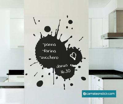 Lavagna adesiva macchia - adesivo murale - lavagna da parete promemoria - sticker lavagna cucina