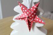Stella di Natale origami fatta a mano