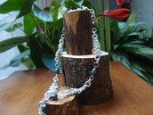 Collier intreccio maglia europea con perle di fiume