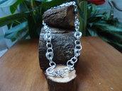 collier fantasia chainmail bizantine rosette perle di fiume