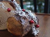 collier fantasia chainmail maglia europea perle rosette