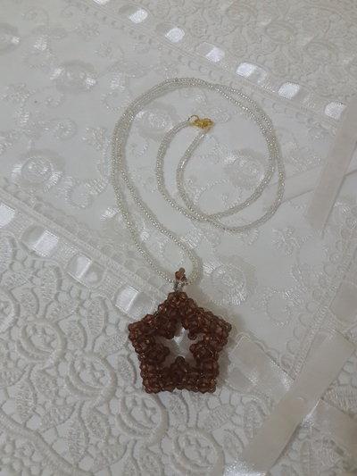 Collana con ciondolo stella swarowski