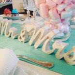 Scritta Mr&Mrs in legno bianco - fatto a mano