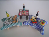 Tavoli in miniatura presepe