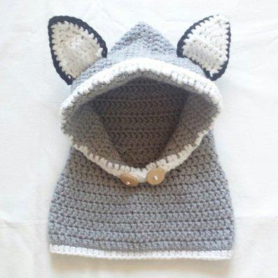 Scaldacollo con cappuccio Gray Fox