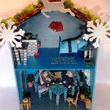 Decorazione natalizia Casetta degli GNOMI DEL BOSCO in legno fatta a mano