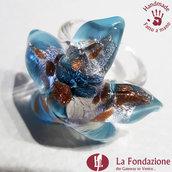 Stella di Mare - Anello in vetro di Murano fatto a mano