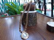 collier originale in kumihimo con ciondolo