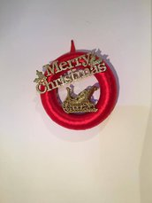 Ghirlanda rossa Merry Christmas