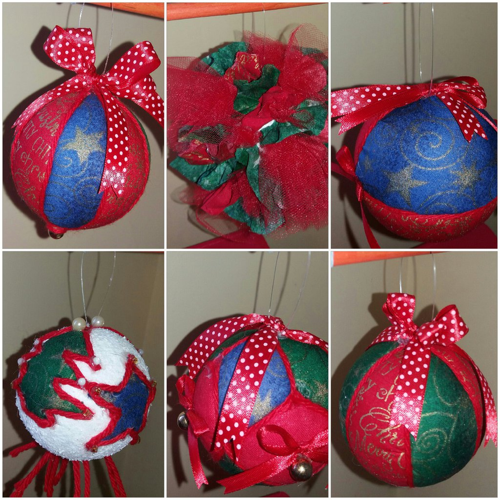 Tris palline natalizie