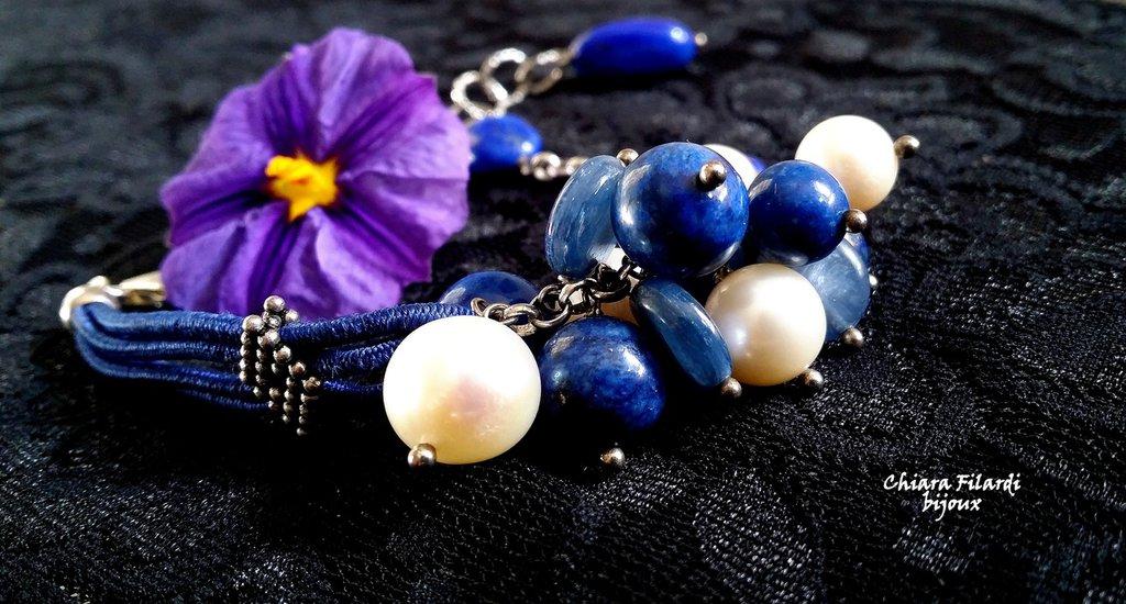 Bracciale con lapis e perle