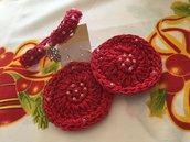 bracciale mano di fatima  anallergico cotone braccialetto uncinetto donna handmade + orecchini cotone uncinetto