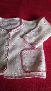 golfino cardigan copri fasce bimba lana maglia