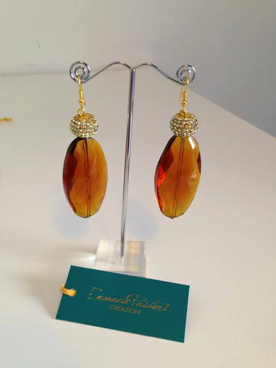 orecchini pietre dure bronzo