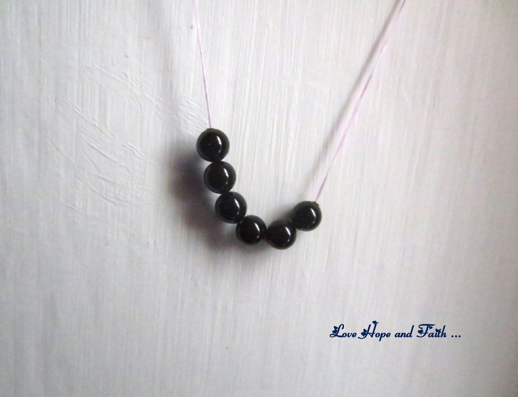 """LOTTO 10 perle """"Mystic Black Pearl"""" (6 mm) (cod. S5810)"""