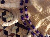 Collana tricolore doppio filo