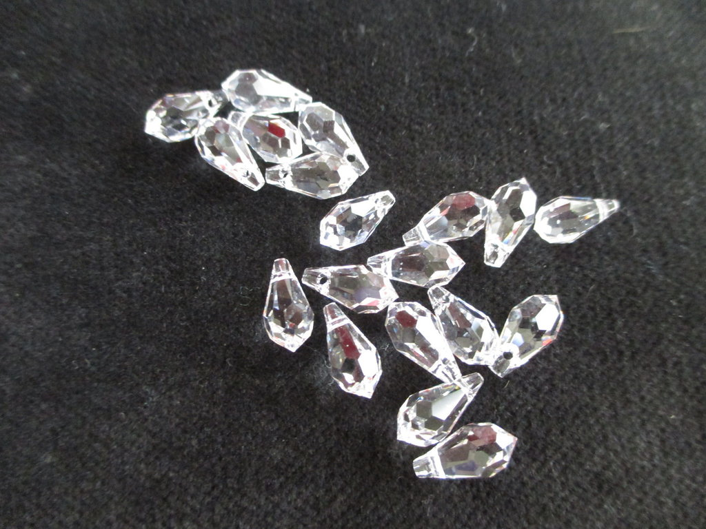 Gocce Swarovski mis 11x5,5 mm x4  colore Crystal
