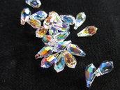 Gocce Swarovski mis 11x5,5 mm x4  colore Crystal AB