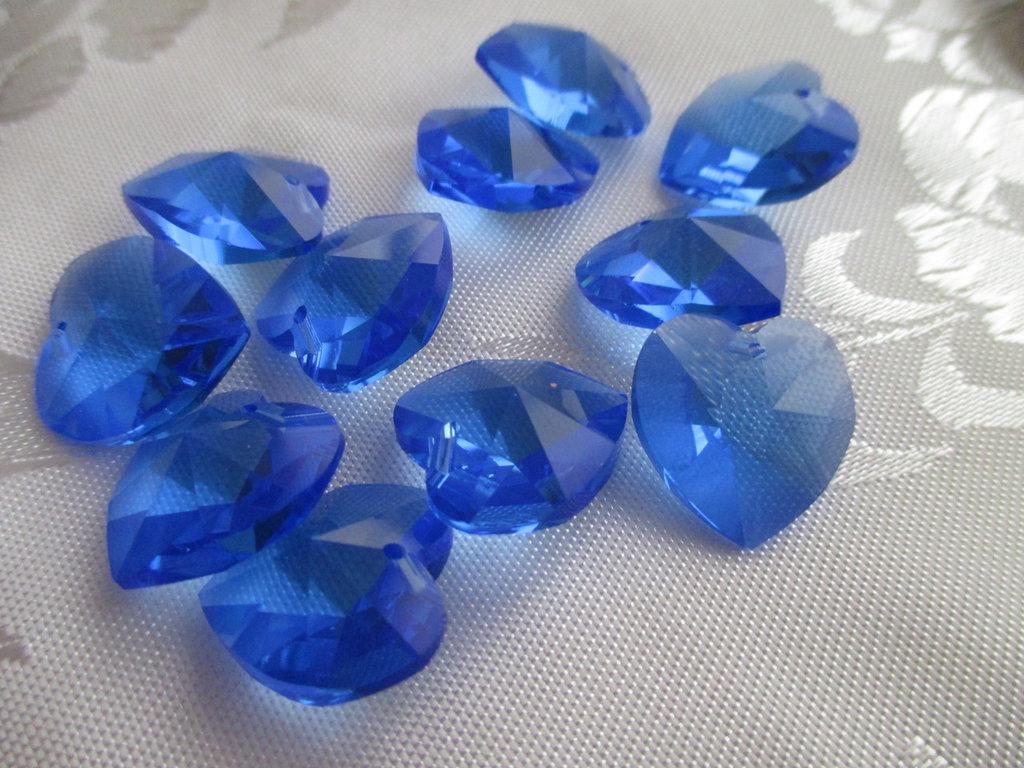 Cuore cristallo Swarovski 18x17,5 mm colore Sapphire
