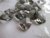 Cuore cristallo Swarovski 18x17,5 mm colore Black Diamond