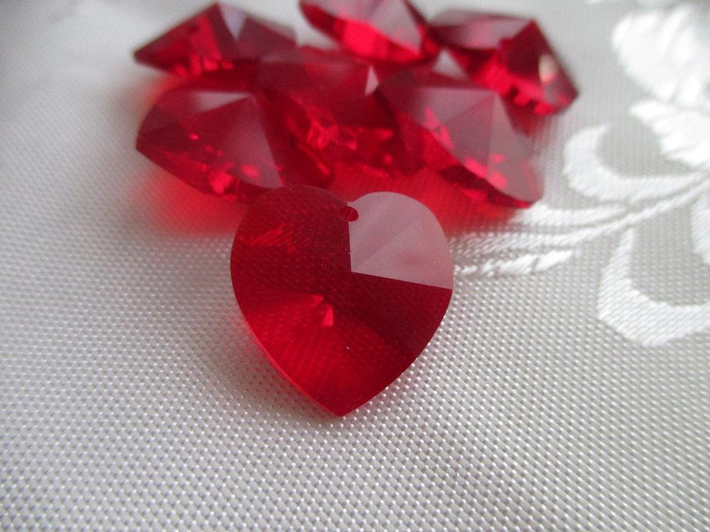 Cuore cristallo Swarovski 18x17,5 mm colore Siam