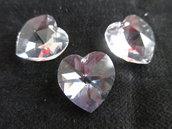 Cuore cristallo Swarovski 18x17,5 mm colore Crystal