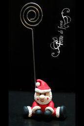 portafoto fimo| portafoto natalizio| portafoto natale| babbonatale fimo| santa claus polymerclay| santa claus frame| idee regali natale| decori casa| decori natalizii