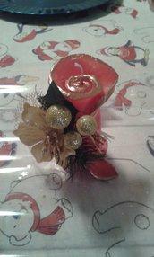 Candela natalizia con bordino dorato