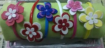 Cerchietti fiori o farfalle gomma crepla