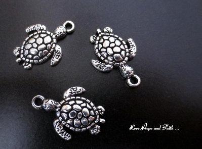 "Charm ""Tartarughina"" color argento (23x16mm) (cod. New)"