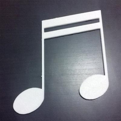 DECOUPAGE Note Musicali musica Duina doppia decorare sagoma decorazioni plastica