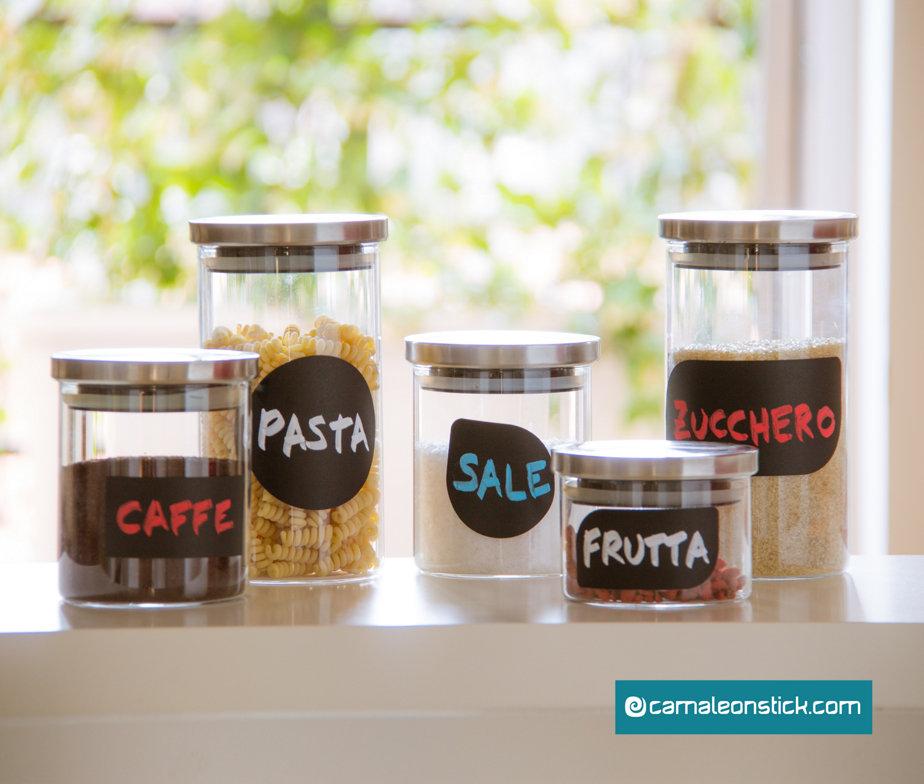 Lavagna adesiva etichette semplici adesivo murale per for Stickers lavagna cucina