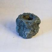 vaso pietra scuro fatto a mano piccolo 11x11