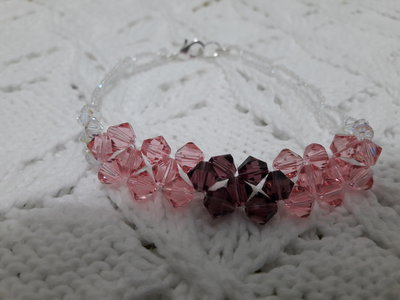 Bracciale swarovski rosa e viola