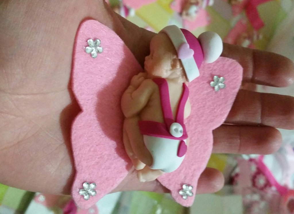 Bomboniera neonato in fimo