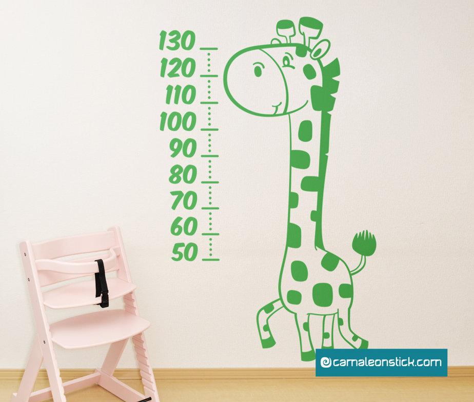Metro da parete Giraffa - misurare altezza bambini - metrino crescita - wall stickers