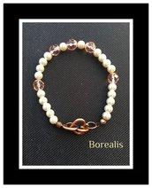 Bracciale Perle di Boemia e Cristalli di Boemia