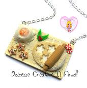 ☃ Natale In Dolcezze 2016 ☃ Collana vassoio biscotti stella glassa di zucchero farina e uova