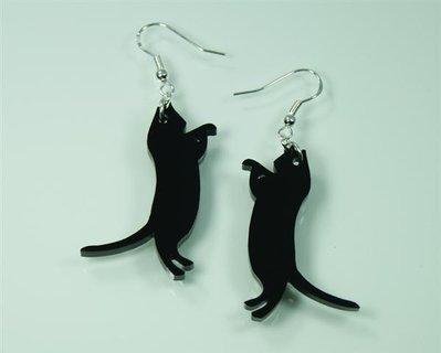 INSERZIONE RISERVATA PER FAUSTA - coppia orecchini gattini in plexiglass